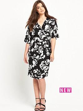 so-fabulous-woven-wrap-kimono-sleeve-dress-blackwhite