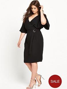 v-by-very-curve-woven-wrap-kimono-sleeve-dress-black