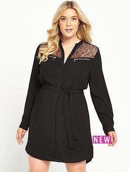 so-fabulous-zip-detail-shirt-dress