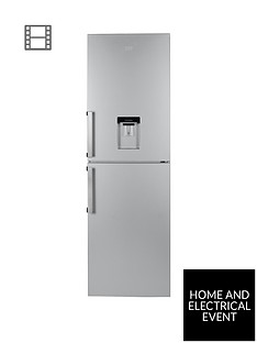beko-cfp1691ds-60cm-frost-free-fridge-freezer-with-water-dispenser-silver