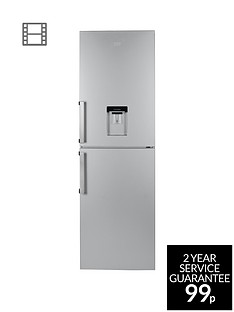 Beko CFP1691DS 60cm Frost Free Fridge Freezer with Water Dispenser - Silver