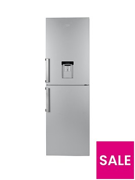 beko-cfp1691ds-60cm-frost-free-fridge-freezer-with-water-dispenser-silver