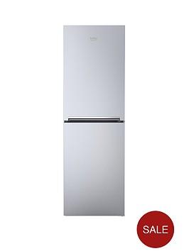 beko-cfg1552s-55cm-frost-free-fridge-freezer-next-day-delivery-silver