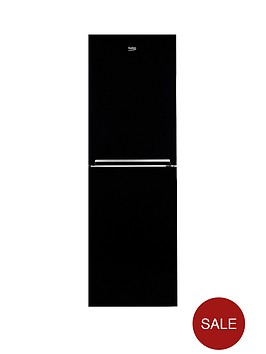 beko-cfg1552b-55cm-frost-free-fridge-freezer-next-day-delivery-black