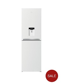 beko-cfg1582dw-55cm-frost-free-fridge-freezer-with-non-plumbed-water-dispensernbsp--white