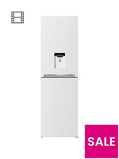 beko-cfg1582dw-55cm-frost-free-fridge-freezer-with-water-dispensernbsp--white