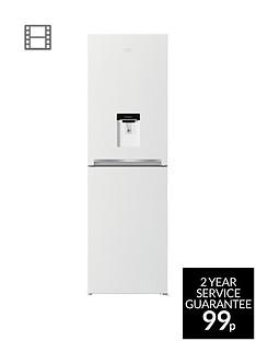 beko-cfg1582dw-55cm-frost-free-fridge-freezer-with-water-dispensernbsp--white