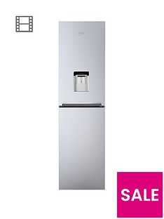 Beko CFG1582DS 55cm Frost Free Fridge Freezer with Water Dispenser - Silver