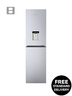 beko-cfg1582ds-55cm-frost-free-fridge-freezer-with-water-dispensernbsp--silver