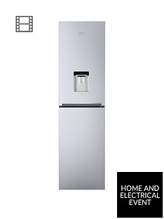 beko-cfg1582ds-55cm-wide-frost-free-fridge-freezer-with-water-dispenser-silver