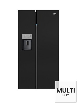 beko-asgn542b-american-style-fridge-freezer-with-non-plumbed-water-and-icenbsp--black