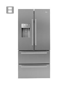 Beko GNE60520DX Frost Free USA Style Fridge Freezer - Stainless Steel