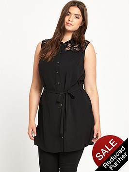 so-fabulous-sleeveless-lace-yoke-blousenbsp