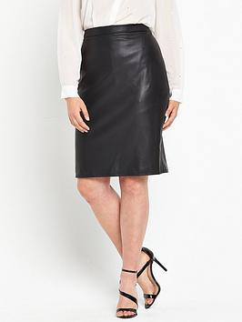 so-fabulous-pu-pencil-skirt-black