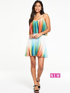 v-by-very-printed-pleated-mini-dress