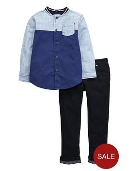 mini-v-by-very-boys-colour-block-shirt-and-jeans-setnbsp