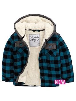 mini-v-by-very-boys-borg-lined-check-shirt-with-hood
