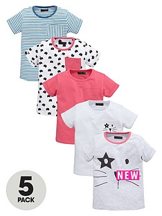 mini-v-by-very-girls-cat-sketch-t-shirts-5-pack