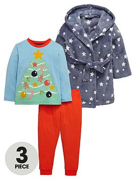 mini-v-by-very-boys-star-print-robe-and-xmasnbsptree-pyjama-set