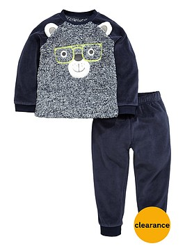 mini-v-by-very-boys-fluffy-front-bear-twosienbsppyjamas-set