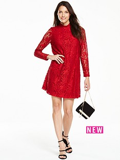 v-by-very-long-sleeve-lace-swing-dress