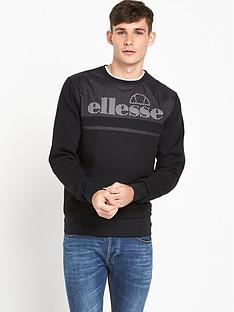 ellesse-nero-crew-neck-sweat