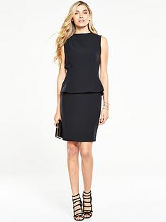 v-by-very-high-neck-peplum-pencil-dress