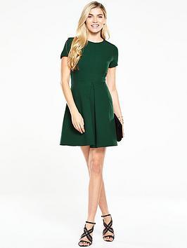 v-by-very-short-sleeve-mini-skater-dress