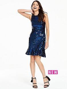 v-by-very-sequin-peplum-dress