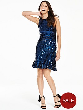 v-by-very-sequin-peplum-dress