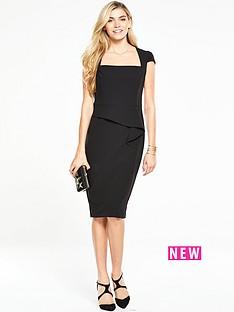 v-by-very-colour-block-peplum-dress