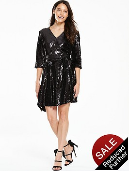 v-by-very-sequin-wrap-dress