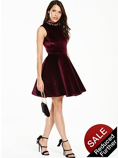 v-by-very-velvet-high-neck-skater-dress