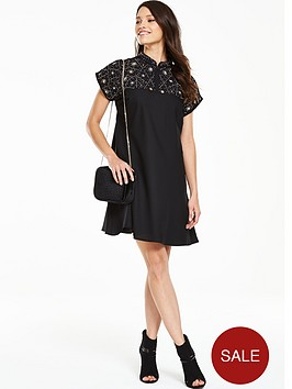 v-by-very-embellished-high-neck-swing-dress