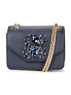dune-mini-jewel-embellished-shoulder-bag-navy