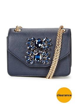dune-mini-jewel-embellished-shoulder-bag-navy