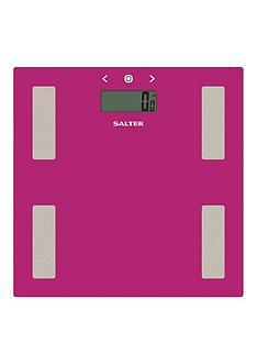 Salter Glass Analyser Bathroom Scales - Pink