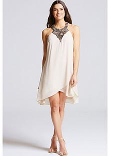 little-mistress-embellished-neck-halter-dress-beige