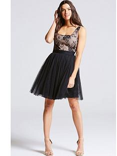 little-mistress-lace-mesh-mini-dressnbsp