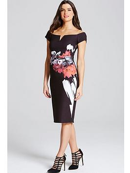 little-mistress-rose-print-pencil-dressnbsp
