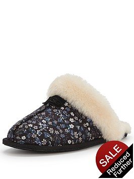 ugg-scuffette-liberty-print-slipper-black