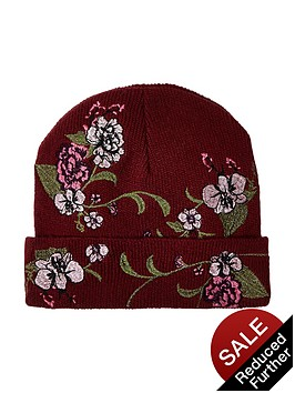 river-island-embroidered-floral-beanie
