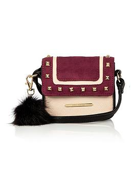 river-island-girls-stud-andnbsppom-pom-cross-body-bag