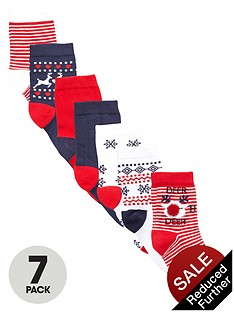 v-by-very-girls-christmasnbsppom-pomnbspsocks-7-pack