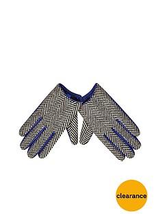 river-island-herringbone-glove
