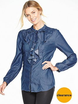 v-by-very-denim-ruffle-shirt
