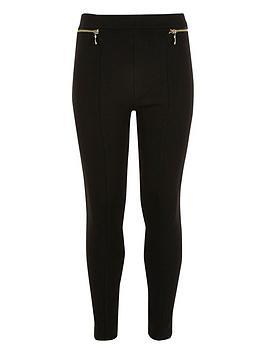 river-island-girls-ponte-zip-leggings