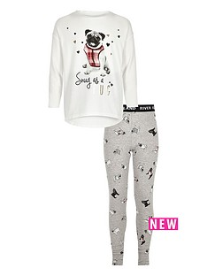 river-island-girls-white-pug-print-pyjamas