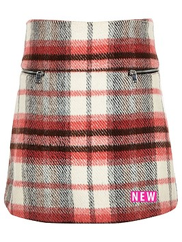 river-island-girls-brushed-check-zip-a-line-skirt