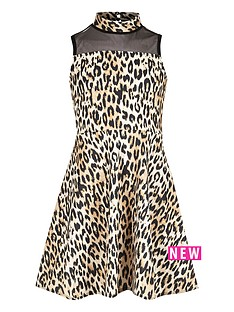 river-island-girls-leopard-print-mesh-panel-scuba-dress